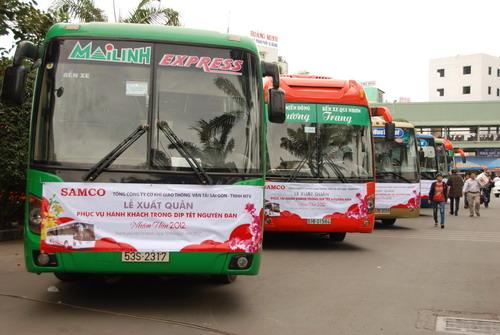 SAMCO xuất quân phục vụ vận tải hành khách trong dịp Tết Nhâm Thìn 2012